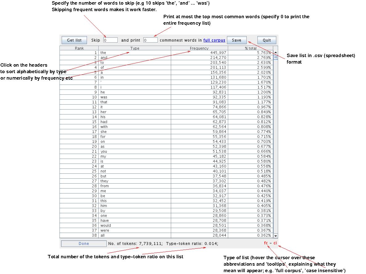 Manual for using the Genealogies Corpus Analysis Software